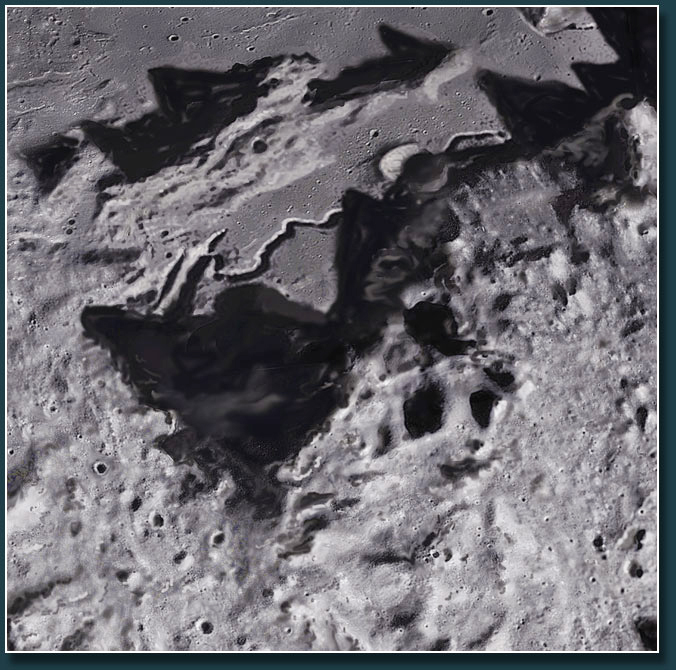 Detailview of Hadley rille